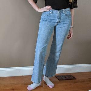J.Crew Vintage Light Wash high-rise flare jeans